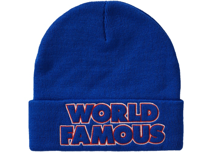 Supreme Outline Beanie (FW19) Royal