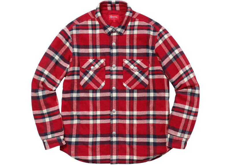 SUPREME QUILTED ARC LOGO FLANNEL