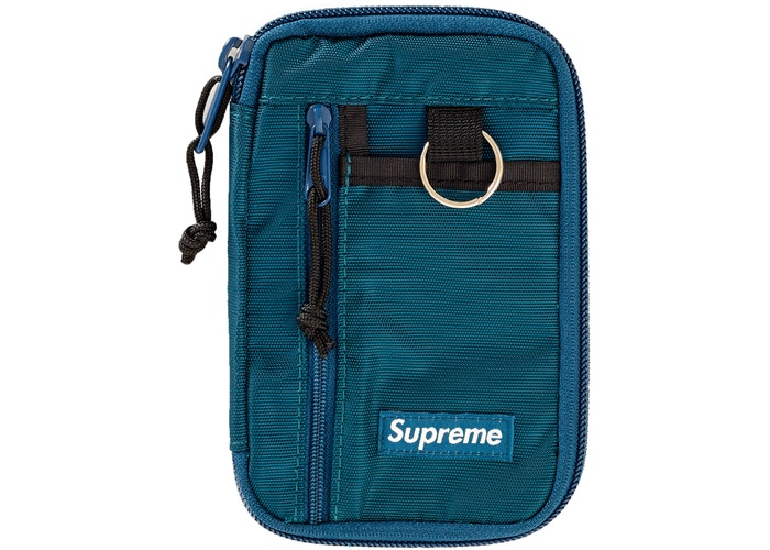 Supreme Small Zip Pouch Dark Teal