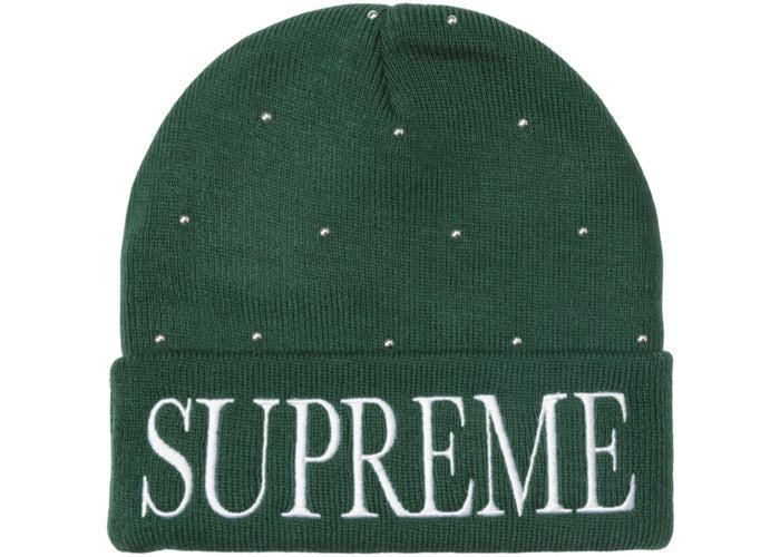 Supreme Studded Beanie Dark Green