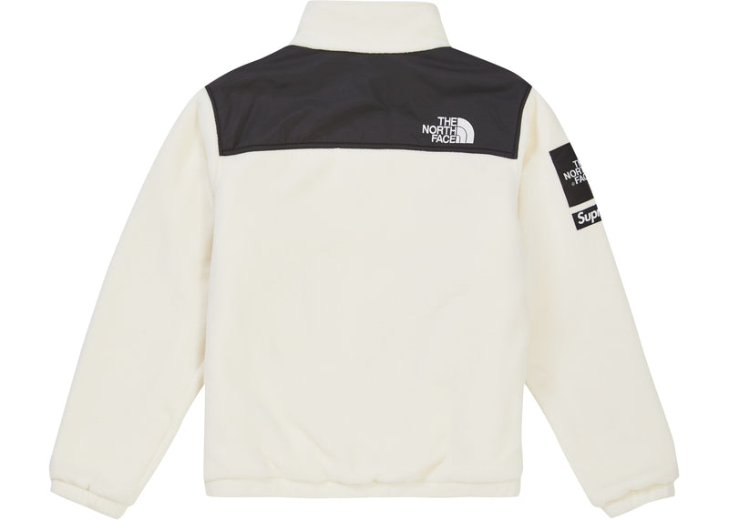 Supreme X The North Face Expedition Fleece Jacket -white