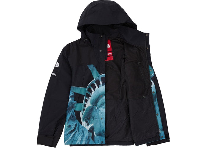 Supreme The North Face Statue of Liberty Mountain Jacket Black