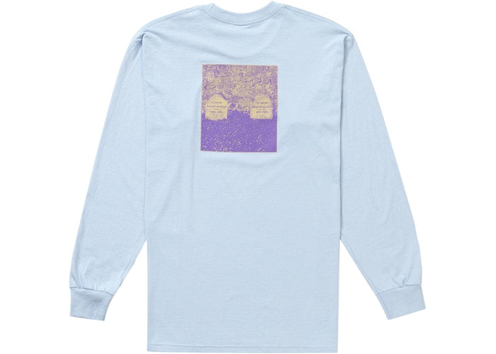 Supreme The Real Shit L/S Tee Light Blue