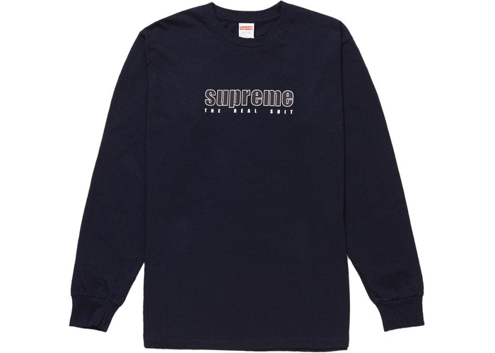 "Supreme L/S ""The Real Shit"" -navy"