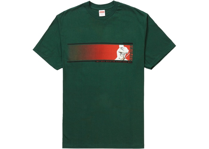 "Supreme ""We're Back"" Tee Dark Green"
