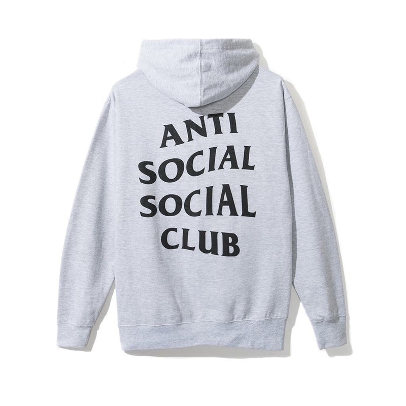 "Anti Social Social Club Hoodie ""Wrecked"" - ash grey"