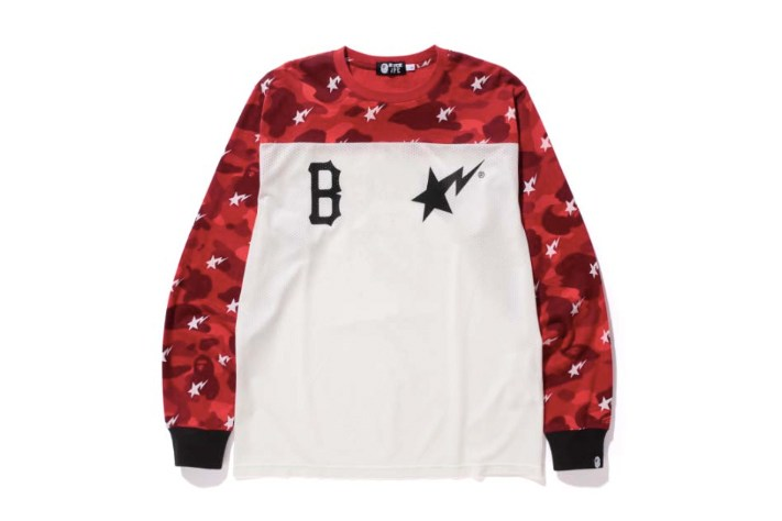 A Bathing Ape x Black Scale Long Sleeve - Red Camo