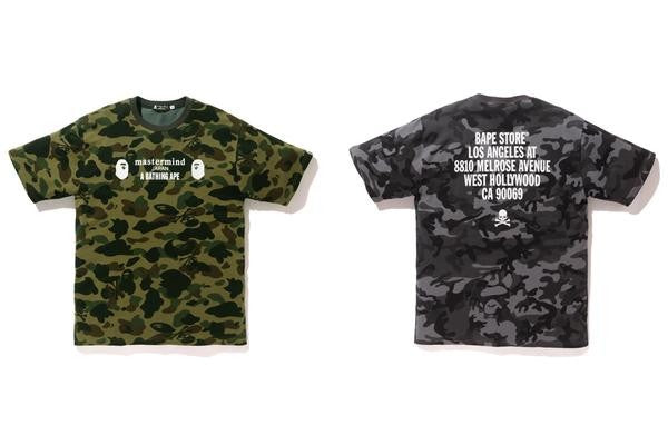 "A Bathing Ape x Mastermind Tee - ""LA Camo Exclusive"""