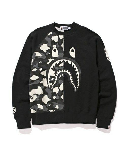 A Bathing Ape Glow In The Dark Shark Crewneck