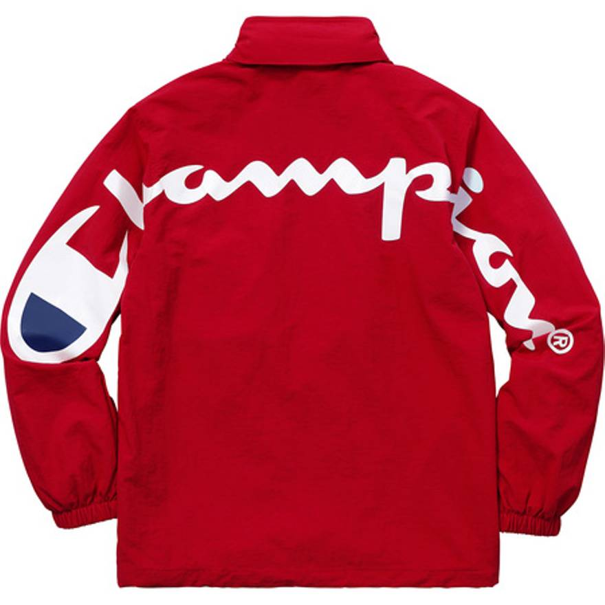 Supreme x Champion Track Jacket Red
