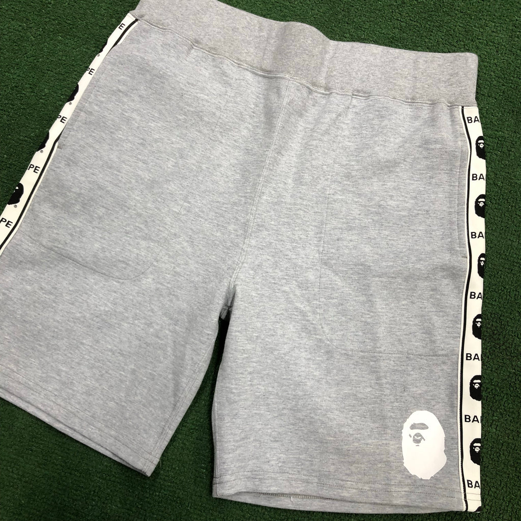 BAPE Sweat Shorts Tape Seamed Grey