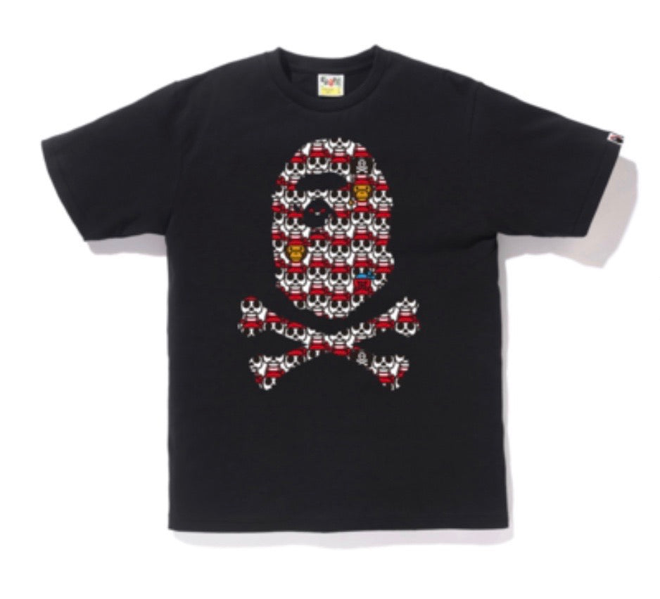 Bape Baby Milo Cross Bone Repeat Print Black
