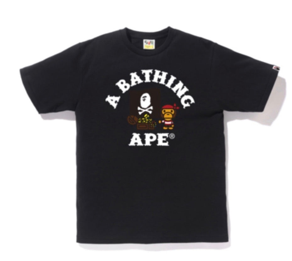 Bape Baby Milo Pirate Tees Black