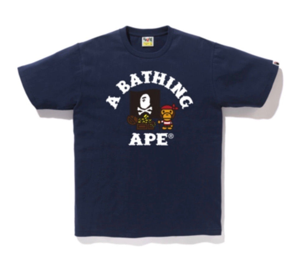Bape Baby Milo Pirate Tees Navy