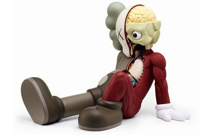 Kaws Resting Place Vinyl Figurine Brown