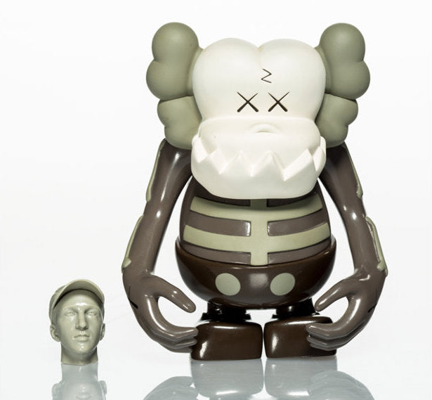 KAWS Bounty Hunter Skull Kun Vinyl Figure Brown