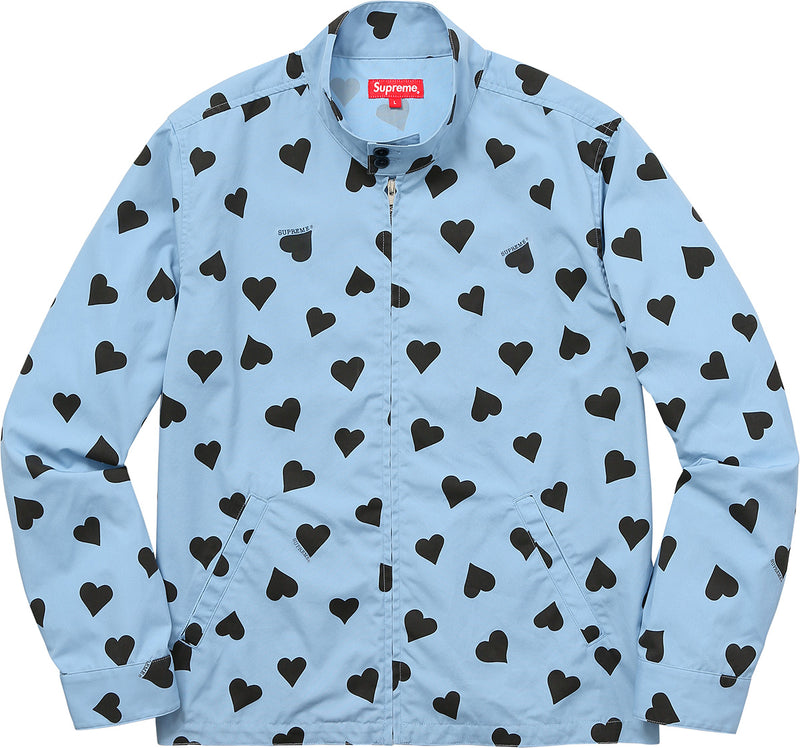 Supreme Hearts Harrington Jacket Light Blue