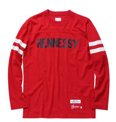 Supreme Hennessy Football Long Sleeve Top -Red