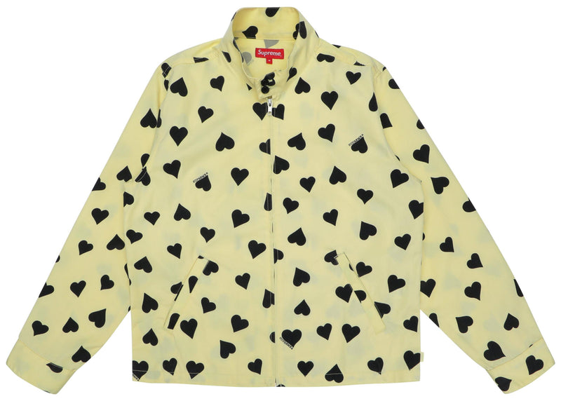 Supreme Hearts Harrington Jacket - Light Yellow