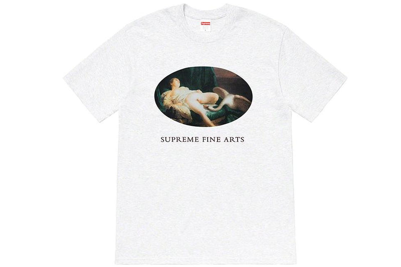Supreme Leda and Swan Tee -Ash Grey