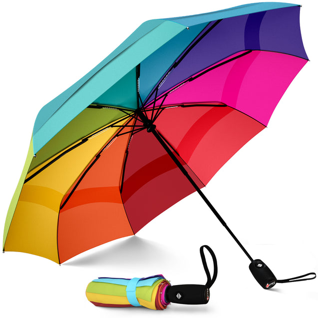Repel Travel Umbrella - Rainbow