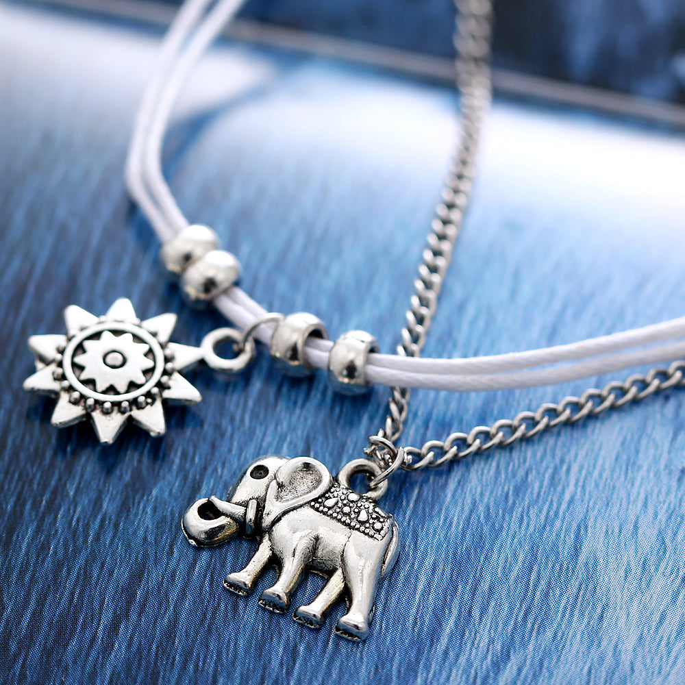 52dcc56559a Elephant and Sun Charm Trendy Anklet – Ritzamor