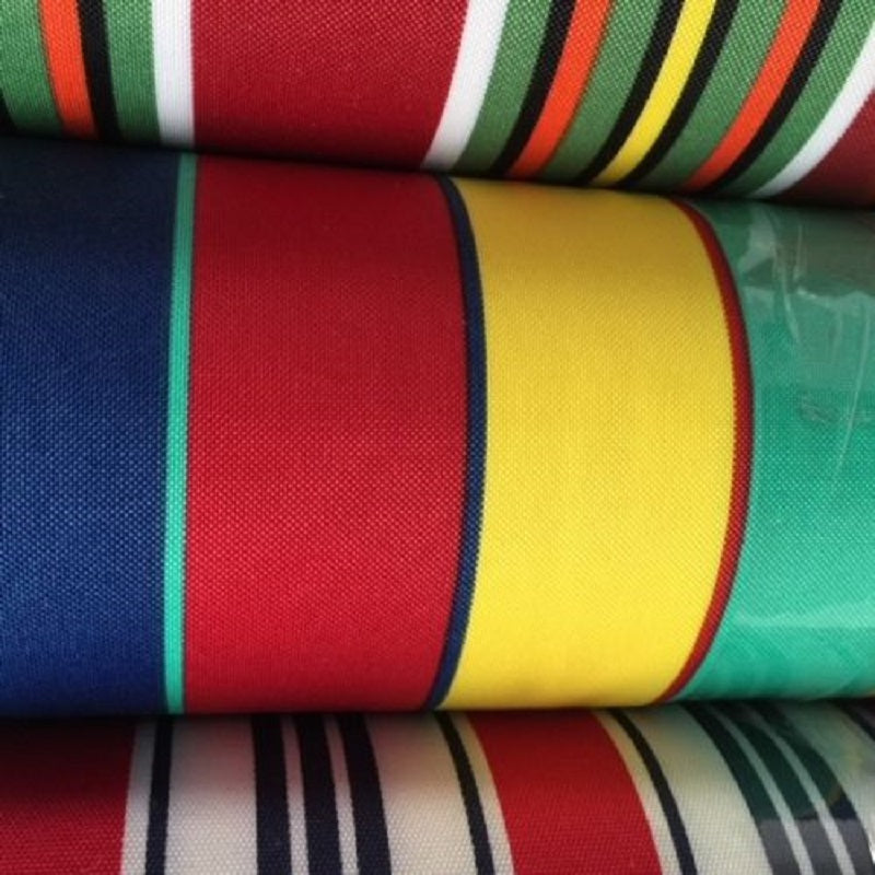 YELLOW  ORANGE GREEN DECK CHAIR  FABRIC BY THE 1.5 METRE