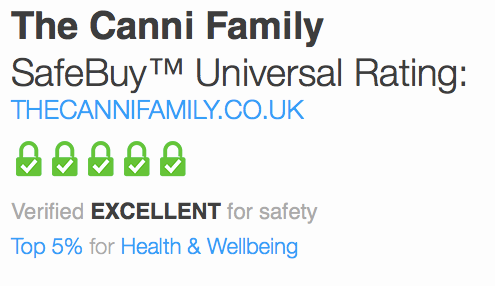 SafeBuy award The Canni Family with 5* Excellent on consumer trust indicator!