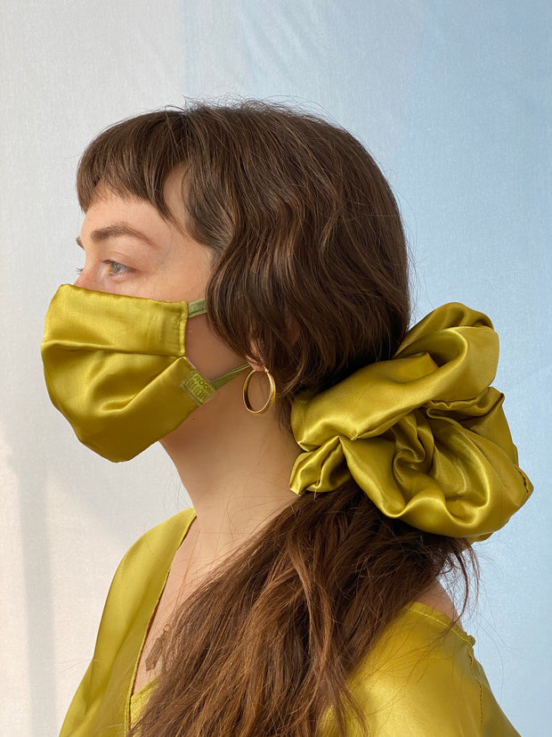 Satin Scrunchie / Over the Ear Mask Duo 1