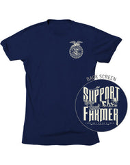 Farm Boy Support Your Local Farmer-FFA Tee