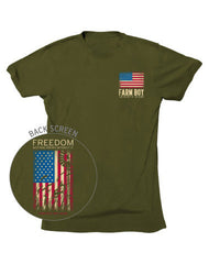 Farm Boy Freedom Flag Tee