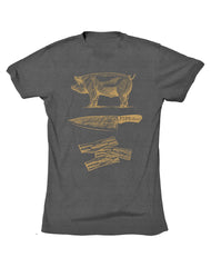 Farm Boy Pig, Knife, Bacon Classic Tee