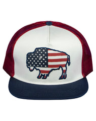 Farm Boy Buffalo Flag Mesh Cap