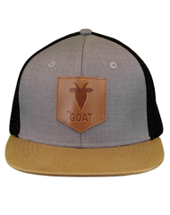 Farm Boy Goat Flat Bill Mesh Back Cap