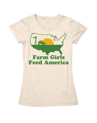 Farm Girl Feed America Tee