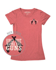 Farm Girl Girls Just Wanna Have Guns Tee
