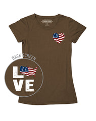 Farm Girl USA Love Tee