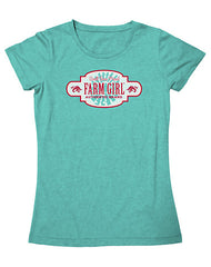 Farm Girl Red Plate Logo Tee