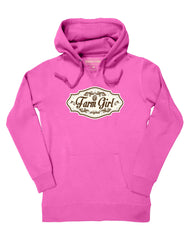 Farm Girl Brown Plate Fleece Hoodie