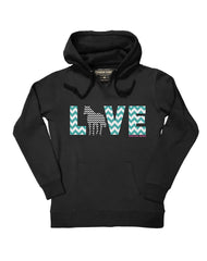 Farm Girl Love Horses Fleece Hoodie