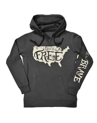 Farm Girl Land of the Free Fleece Hoodie
