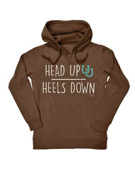 Farm Girl Head Up Heels Down Fleece Hoodie