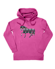 Farm Girl Aztec Horse Fleece Hoodie