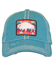 Farm Girl Bison Unstructured Twill Cap