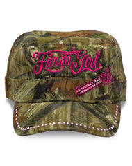 Farm Girl Mossy Oak Engine Engineer Hat/ Military Cap