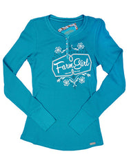 Farm Girl Thermal Henley