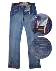 Farm Girl Gracie Denim Jean w/ Barb Wire Detail, Talls