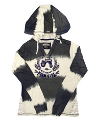 Farm Girl Ombre Stripe Hood French Terry Hood