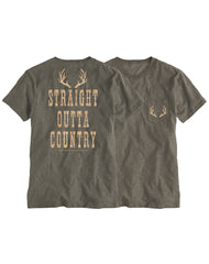 Farm Girl Straight Outta Country Boyfriend Pocket Tee