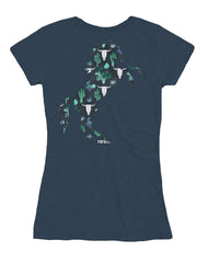 Farm Girl Cactus & Skulls V-Neck Tee